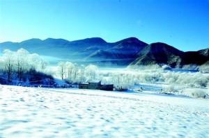 神農架で白い雪と一緒に踊りましょう!